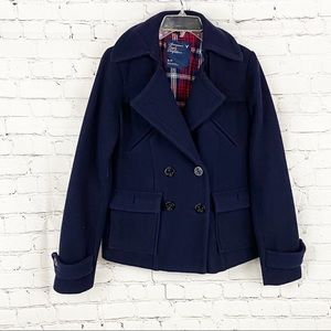 Navy blue short coat from American eagle, size S